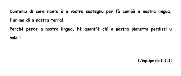 """""""A lingua corsa in cullegiu"""""""