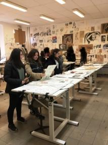 """Visite de la """"Prépa D'Art"""" à Sartène (T°L)"""