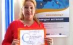 """Attribution du label de qualité national """"eTwinning"""" à Mme Collomb (professeur d'anglais)"""