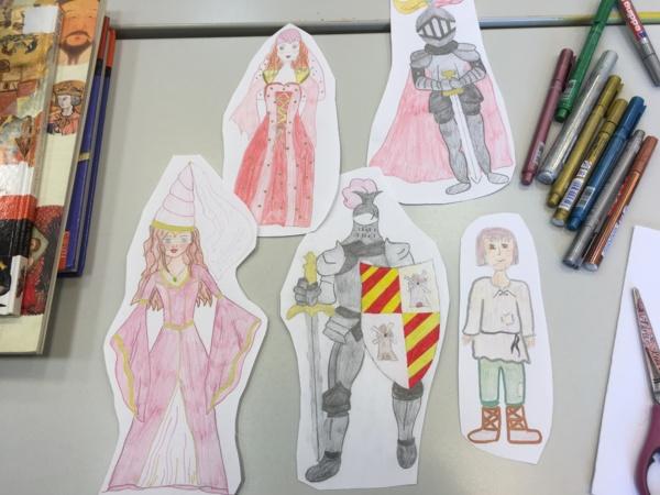 On dessine les personnages