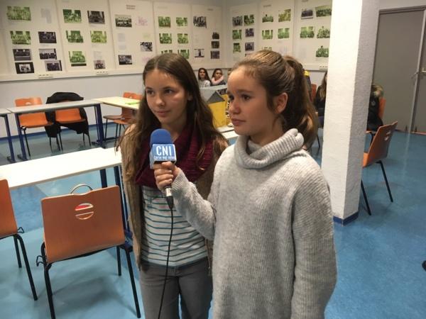 Des élèves défendent leur projet au micro !