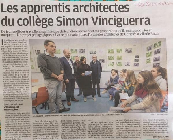 """CLASSE DE  5°3 - LANCEMENT  DU  PROJET  """"ARCHITECTURES""""      20 DÉCEMBRE 2018"""