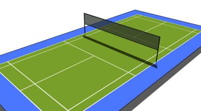 terrain de badminton. Black Bedroom Furniture Sets. Home Design Ideas