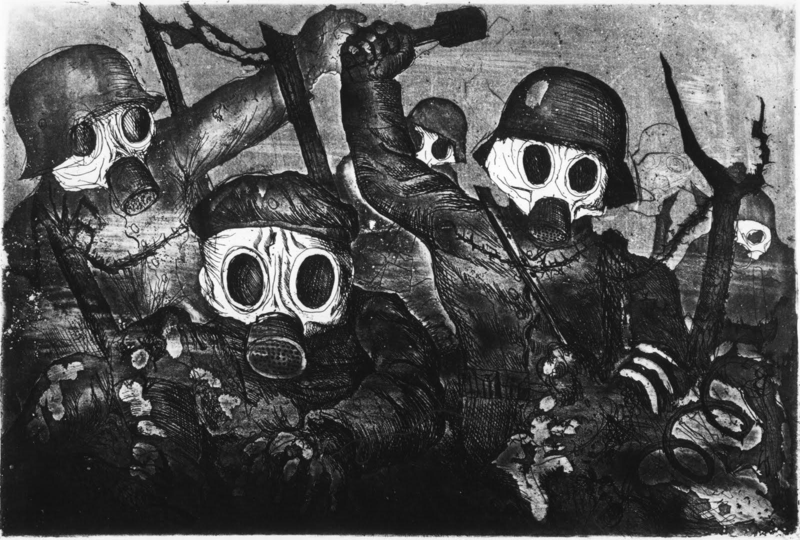 Gasmask terror chemical warfare nuclear holocaust 4