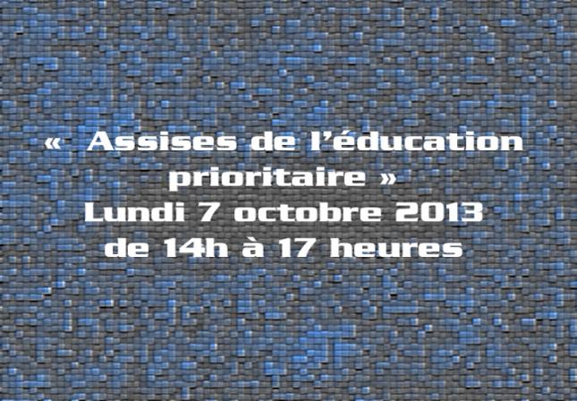 Assises de l'éducation prioritaire 2013