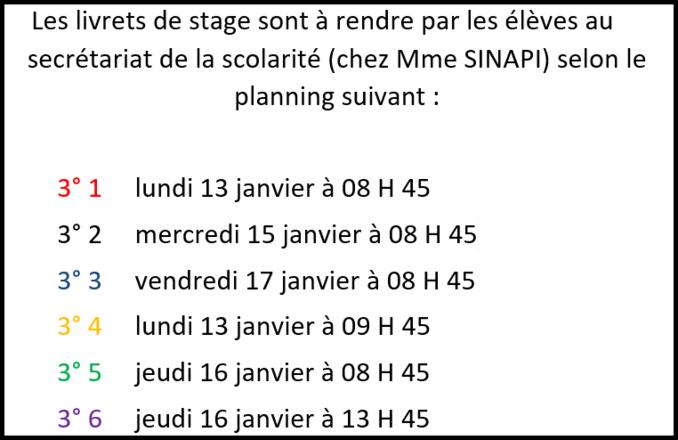 Stage de 3e : infos, livret de stage et dates
