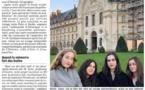 """Des anciennes élèves de 3ème du collège primées, pour le concours """"Bulles de mémoire"""", au Bundestag (entre autres)"""