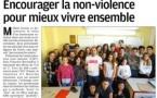 Actions de sensibilisation à la non-violence et participation à l'opération ELA