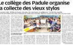 Les Padule recycle les stylos