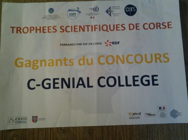 Les trophées scientifiques de Corse