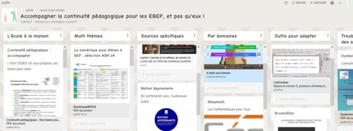 Mutualisation de ressources pour la continuité pédagogique des EBEP