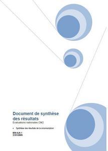 ARCHIVES 2009 : Evaluations CM2 - bilan Ajaccio 1