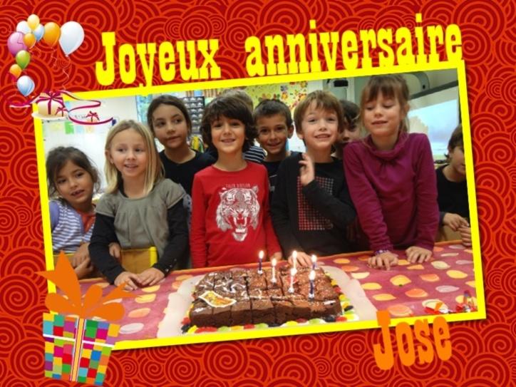 Joyeux Anniversaire Jose