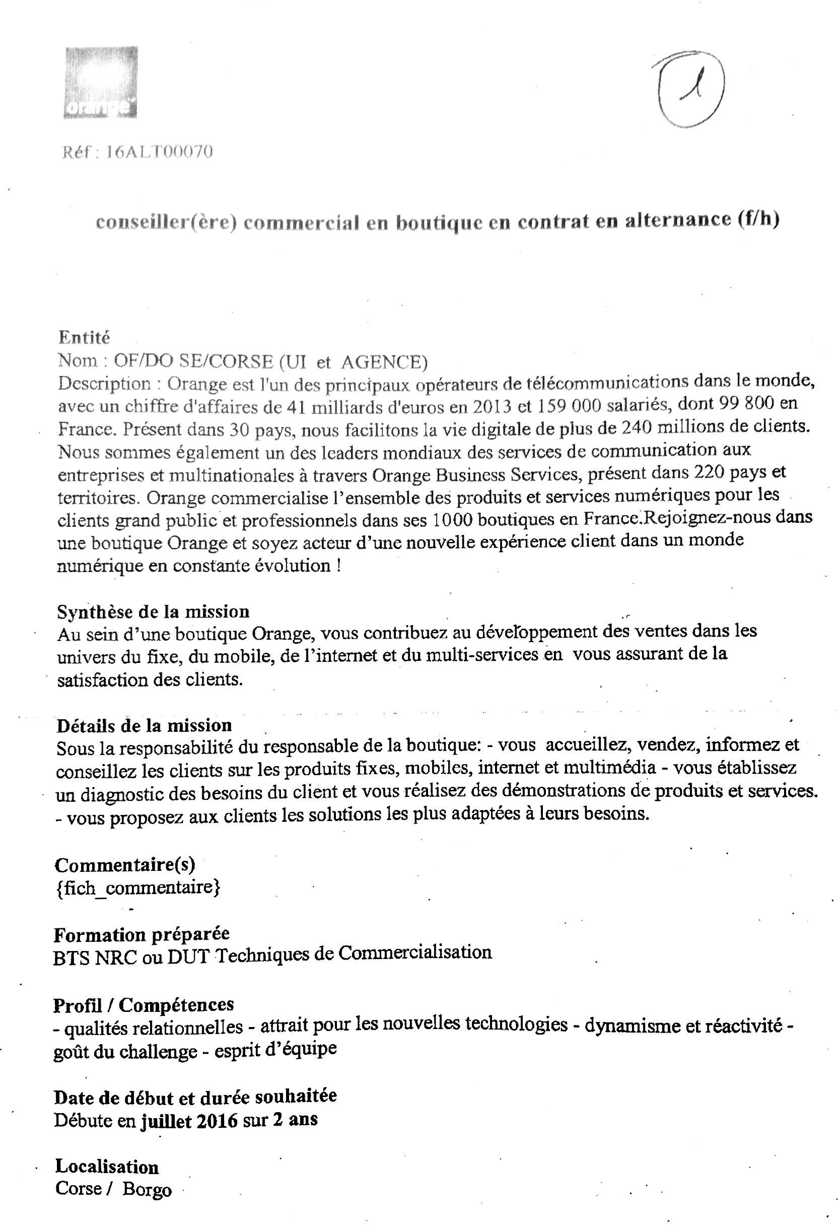 proposition de poste s de conseiller re commercial en On contrat de prestation artistique