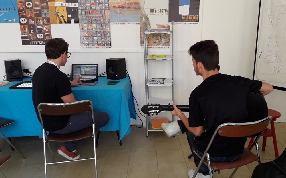 Compositon musicale dans l'atelier MAO