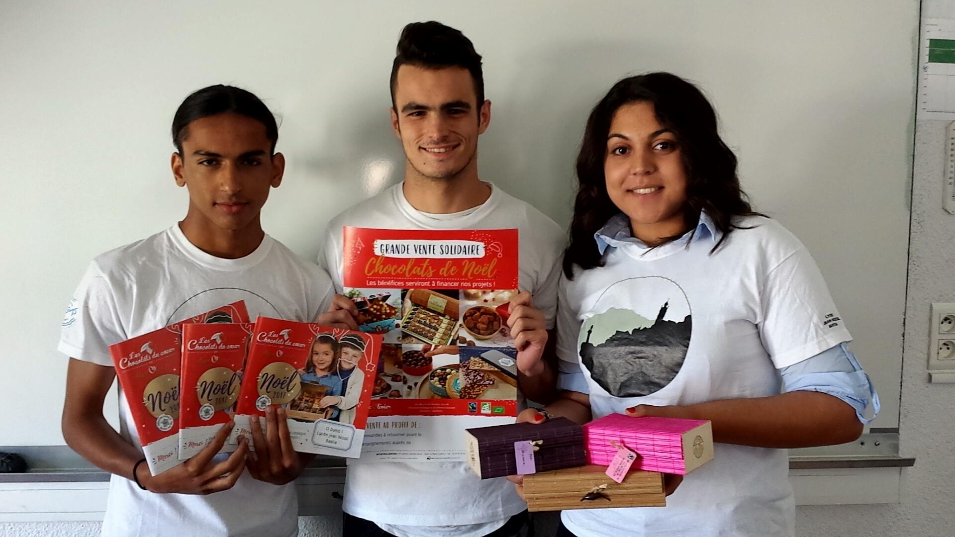 Vente de chocolats pour Noël !