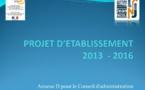 Projet d'établissement 2013 - 2016