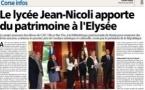 """Nos lycéens reçus au Palais de l'Elysée à l'occasion du premier prix de """"l'audace artistique et culturelle"""""""