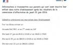 Informations sur les inscriptions du 27 au 30 juin (voir calendrier ci-dessous)