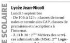 C'est la rentrée au Lycée Jean Nicoli !