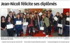 Les diplômés promotion 2016 dans la presse pour la cérémonie des diplômes.