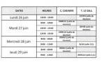 Planning des conseils de classe de seconde (2ème semestre)