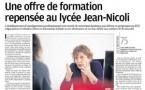 Le lycée dans la presse : interview de Mme Casimiri - Proviseure dans le Corse-matin