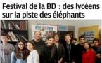 """Les lycéens des sections """"accueil"""" et """"logistique"""" dans la presse pour le festival de la BD"""