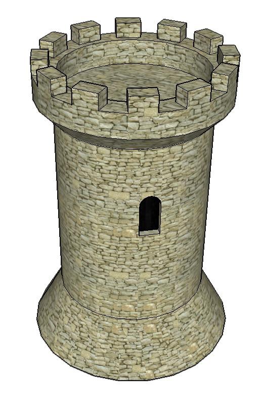 Réalisation d'une tour génoise