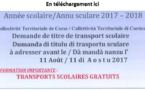 DOCUMENT DE DEMANDE DE TITRE DE TRANSPORT 2017-2018